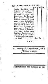 Relation des voyages entrepris par ordre de Sa Majesté britannique ...: pour faire des découvertes dans l'hémisphere méridional, Volumes7à8