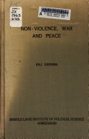 Non-violence, War and Peace