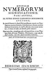 Mystica Numerorum Significatio: In dvas divisvs partes. 2