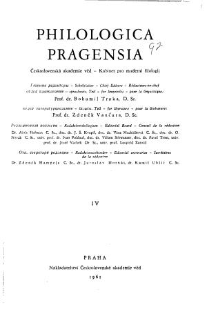 Philologica Pragensia PDF