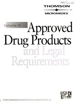 Approved Drug Products and Legal Requirements PDF