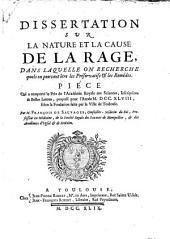 Dissertation sur la nature et la cause de la rage