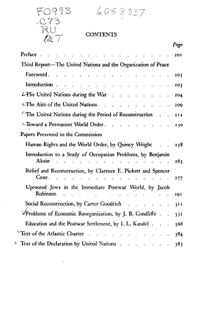 Third Report   The United Nations and the Organization of Peace PDF