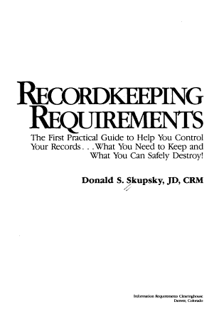 Recordkeeping Requirements PDF