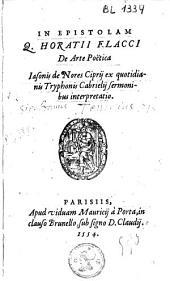 In epistolam Q.Horatii Flacci De arte poëtica
