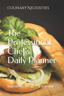 A Professional Chef S Daily Planner Book PDF