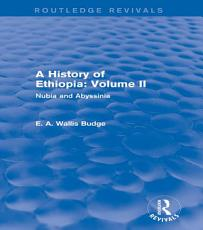 A History of Ethiopia  Volume II  Routledge Revivals  PDF