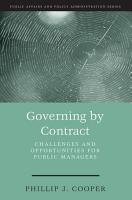 Governing by Contract PDF
