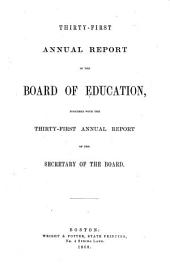 Annual Report of the Department of Education