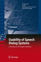 Usability of Speech Dialog Systems PDF