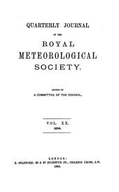 Quarterly Journal of the Royal Meteorological Society: Volumes 20-21