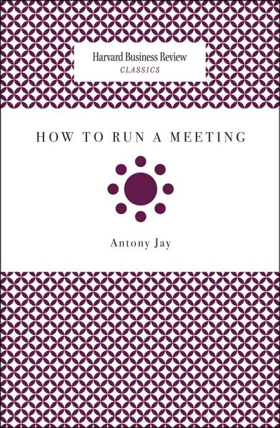 Download How to Run a Meeting Book