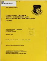 Evaluation of the Crack Growth Gage Concept as an Individual Aircraft Tracking Device PDF
