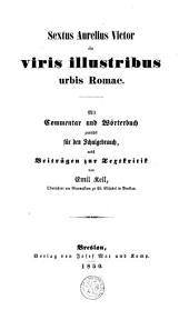 Sextus Aurelius Victor de viris illustribus urbis Romae