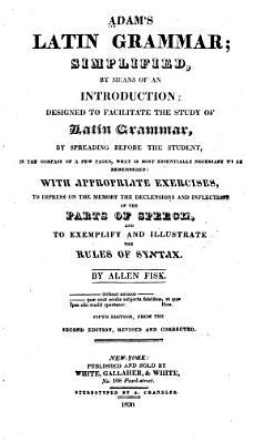 Adam s Latin Grammar PDF