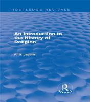 An Introduction to the History of Religion  Routledge Revivals  PDF