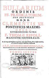 Bullarium Ordinis FF. [i.e. Fratrum] Prædicatorum: Ab anno 1621 ad annum 1735