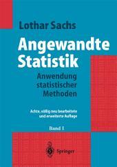 Angewandte Statistik: Ausgabe 8