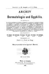 Archiv für Dermatologie und Syphilis: Band 39