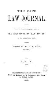 The Cape Law Journal: Volume 5