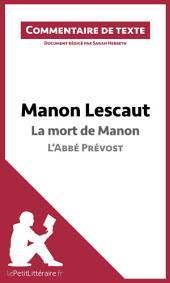 Manon Lescaut de l'Abbé Prévost - La mort de Manon: Commentaire de texte