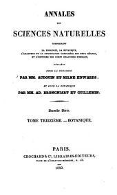 Annales des sciences naturelles: Volume 13