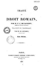 Traité du droit romain