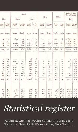 Statistical Register PDF