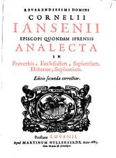 Analecta in Proverbia, Ecclesiasten ...