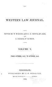 The Western Law Journal: Volume 5