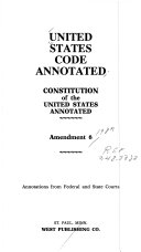 UNITED STATES CODE ANNOTATED CONSTITUTION of the UNITED STATES ANNOTATED PDF