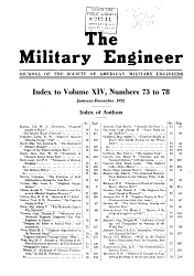 The Military Engineer  Journal of the Society of American Military Engineers PDF