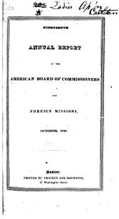 Annual Report - American Board of Commissioners for Foreign Missions: Volumes 19-23