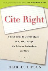 Cite Right Book PDF