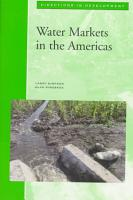 Water Markets in the Americas PDF