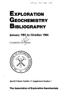 Exploration Geochemistry Bibliography PDF