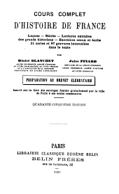 Cours complet d'histoire de France ...