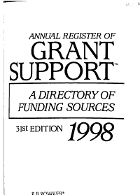 Annual Register of Grant Support 1998 PDF