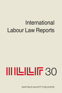 International Labour Law Reports  Volume 30 PDF