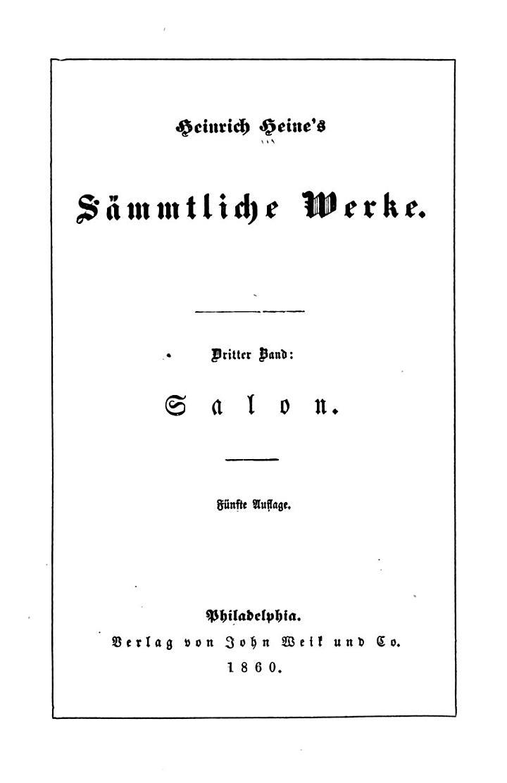 Heinrich Heine's Sämmtliche Werke ...