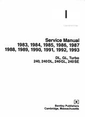 Volvo 240 Service Manual 1983 Through 1993 PDF