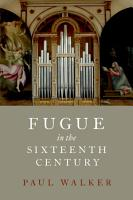 Fugue in the Sixteenth Century PDF