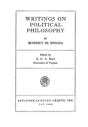 Writings on Political Philosophy