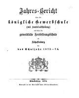 Jahres Bericht   ber die K  nigliche Gewerbschule  mit Handelsabteilung  und   ber die Gewerbliche Fortbildungsschule zu Aschaffenburg0 PDF