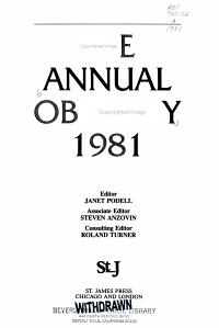 Annual Obituary  1981 PDF