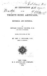 An Exposition of the Thirty nine Articles PDF