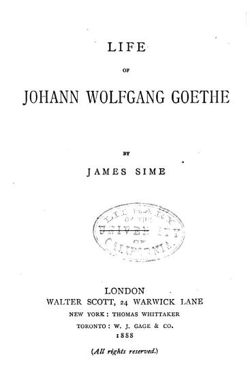 Life of Johann Wolfgang Goethe PDF