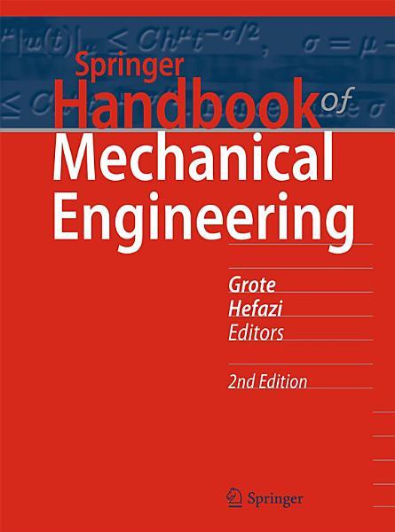 Springer Handbook of Mechanical Engineering PDF