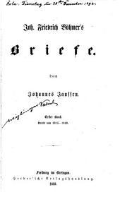 Bd. Briefe von 1815-1849