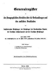 Stenographische Berichte über die Verhandlungen des Deutschen Reichstages: 1867-95